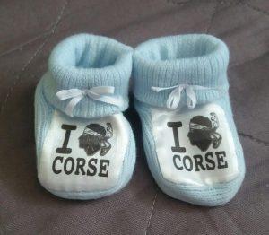chausson bébé personnalisée corse