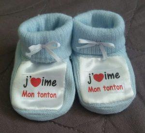 chausson bébé personnalisée